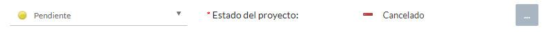 Estado del proyecto pendiente